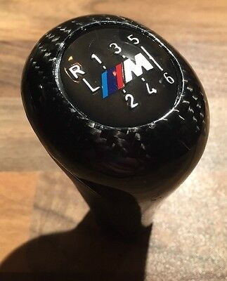 BMW 6 Speed M Sport Gear Knob in Genuine Carbon Fiber Fibre and Leather