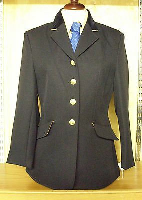 Dublin Child's Show Jacket Navy With Gold Trim Size 28""