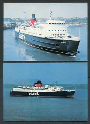 C1960-70S 6 Coloured Postcards Of British Rail-Sealink Ferries - All Different