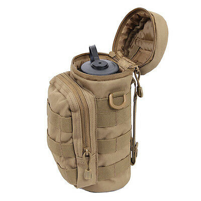Tactical Pouch 1L Water Bottle Holder Camping Hiking Small Molle Waist Belt Bag