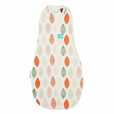 ergoPouch Organic Zip Up Baby Swaddle 0.2 Tog Size: 0-3months LEAF (£24.99 RRP)