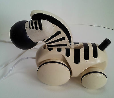 Wooden Pull Toy  PlanToys 5146 Pull along Zebra