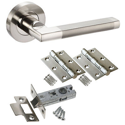 PARUS INTERNAL DOOR Handle Packs - Latch Lock Bathroom Door Handle ...