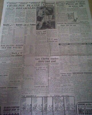 1953 Man Utd 1 V 3 Wba Daily Express & Report Photo-Spurs V Charlton
