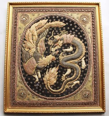 Chinese Embroidery Dragon Phoenix