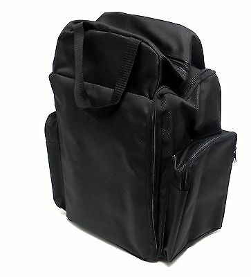 12 Black Velvet Pad Jewelry Storage & Display Trays with Carrying Case
