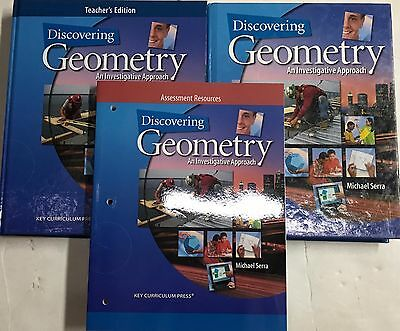 Discovering Geometry Homeschool Key Curriculum Teacher Edition Tests High School
