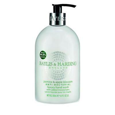 Baylis and Harding Jasmine and Apple Blossom Hand Wash Anti Bacterial 500ml x 4