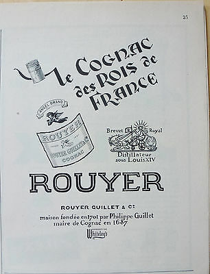 Rouyer Guillet Cognac des Rois de France 1956 Canada - Kings of France Cognac Ad