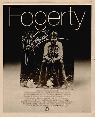 "1975 John Fogerty ""rockin All Over The World"" Album Ad"