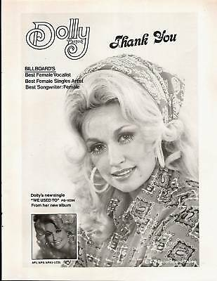 "1975 Dolly Parton ""the Seeker/we Used To"" Album Ad"