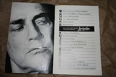 Apocalypse now movie premiere booklet