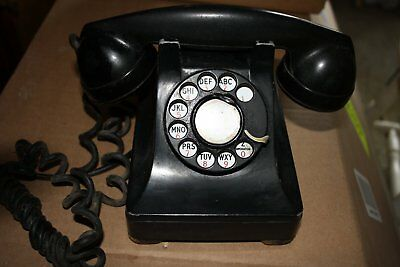 Vintage Black Northern Electric Rotary Telephone 40s early 50s