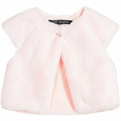Lili Gaufrette Girls Pale Pink Synthetic Fur Gilet 3 Years
