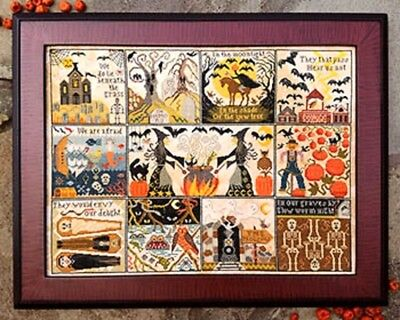 Halloween At Hawk Run Hollow Sampler-Cross Stitch Chart-Carriage House Samplings