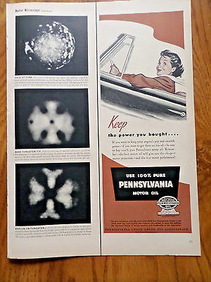 1950 Pennsylvania Motor Oil Ad  Convertible Keep the Power you Bought
