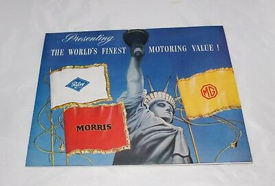 Riley Morris MG  Sales Literature Poster World's Finest Motoring Value