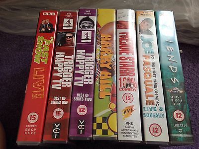 VHS Bundle Comedy X7 Video Tapes Trigger Happy TV Harry Hill Fast Show Friends
