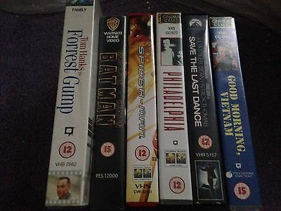 VHS Bundle Drama Action X6 Tapes Good Morning Vietnam Batman Save The Last Dance