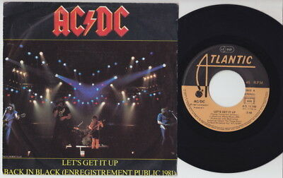 AC/DC * Let's Get It Up * 1981 FRENCH 45 * ACDC METAL HARD Rock *