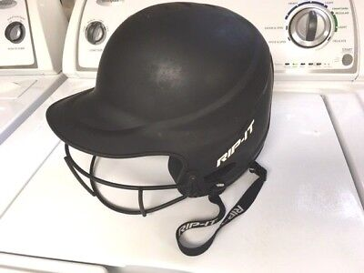 RIP IT Vision Pro Softball Batting Helmet Medium/Large Matte Black VISN-M-B