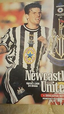 Newcastle United v Doncaster Rovers 97/98