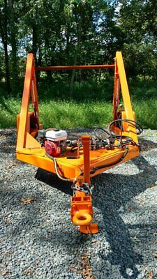 Century Built Cable, Fiberoptic reel Trailer Gas powered hrdraulics