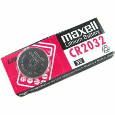 1x Maxell Hitachi Authentic Cr2032 3V 220Mah Lithium Battery Button FREEPOST