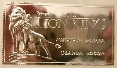 Uganda - Lion King Mufasa and Simba Gold stamp sc# 1271