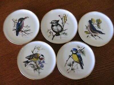 5 Vintage Kaiser Germany Bird Pin Dishes/coasters
