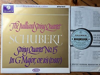 SAX 2535 1st B/S NM JUILLIARD STRING QUARTET Schubert Quartet No.15 1G STAMPER
