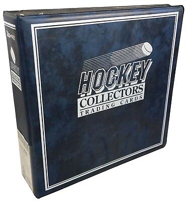 """3"""" Ultra Pro Hockey Collectors Blue 3-Ring Binder - Limited Edition Design"""