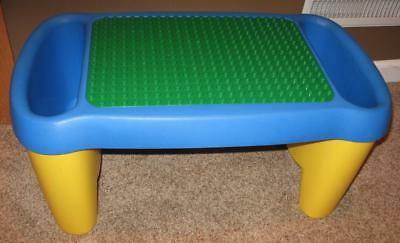 LEGO DUPLO Portable Lap Desk Table + 2 Storage Compartments w/ Large Base Plate