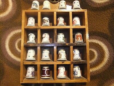 Set Of Bone China [ Mayfair Edition Thimbles 20 In Collection.]