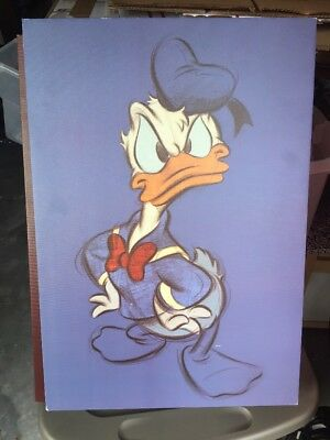 "Sassy Donald Duck Canvas Art Print Large 23"" x 16"" Disney"