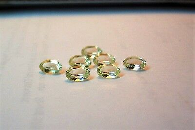Stunning beautiful lab created 7 green  sapphire  3x5 oval faceted carat 1.80