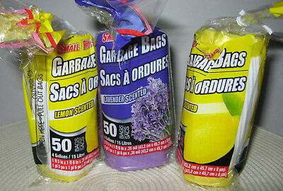 3 Packs 150 Total Bags 4 Gallon Scented Trash Garbage Doggie Bags Free Shipping