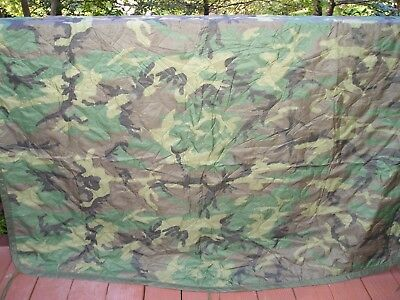 USGI Woodland Camouflage Poncho Liner - Good to VG Condition - Free Shipping