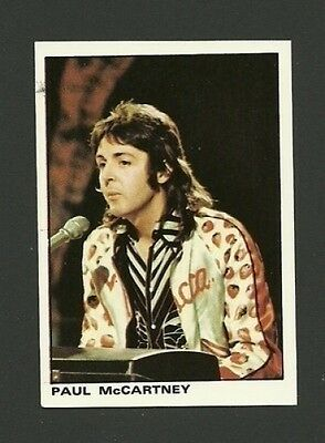 Paul McCartney Beatles Panini Pop Rock Sticker Card #7