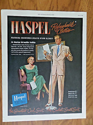 1950 Haspel Refreshable Clothes Ad  the Coolest Smart Suit