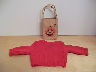 American Girl MOLLY HALLOWEEN SWEATER & TREAT BAG ONLY