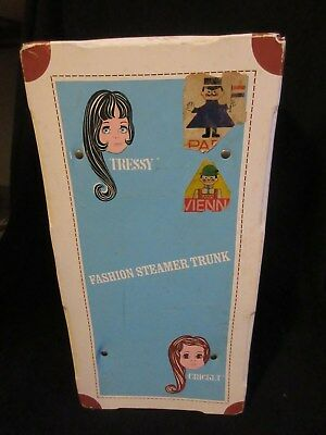 Vintage Tressy Cricket Fashion Steamer Trunk With Original Clothes