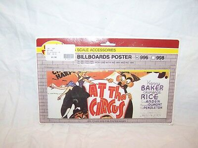 NEW Vintage MODEL POWER Lighted Billboards Movie Poster 996 1924 to 1940