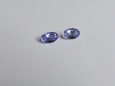 2 x earth mined natural oval Tanzanite gemstones...0.26 carat total