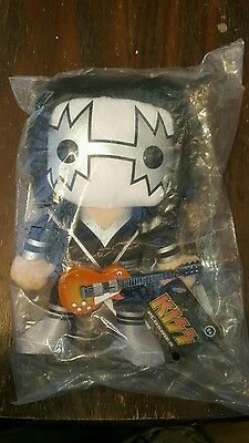 Kiss Ace Frehley 8 inch stuffed Funko doll with guitar