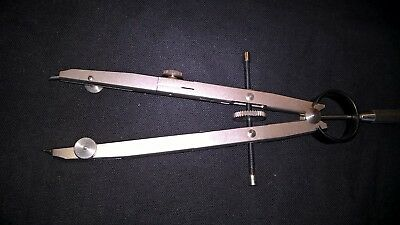 ASCOLA drafting compass. West German. Spare lead & parts. Original packet.