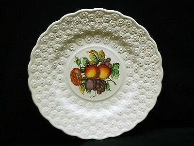 Old Vintage Alden by Spode Luncheon Plate #12 Ring Fruit Daisy Copeland England