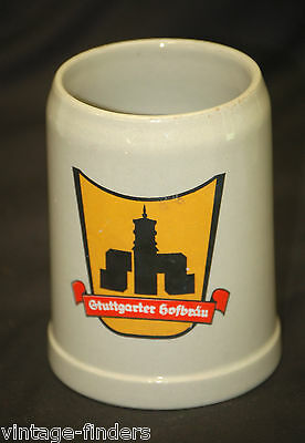 Vintage German Stuttgarter Hofbrau Beer Stein Tankard Mug Barware Decor Germany