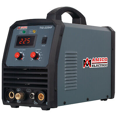 TIG-225, 220 Amp HF-TIG Torch, Stick Arc DC Welder 115/230V Dual Voltage Welding