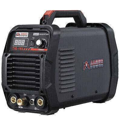 TIG-165, 160 Amp HF-TIG Torch, Stick Arc DC Welder 115/230V Dual Voltage Welding